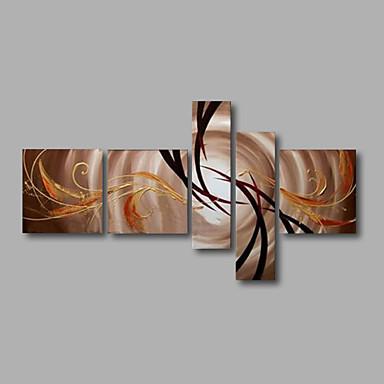 Handgemalte AbstraktModern Fünf Panele Leinwand Hang-Ölgemälde For Haus Dekoration