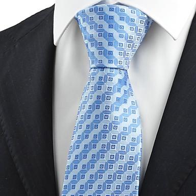 Gravata(Azul,Poliéster)Listrado / Quadriculado