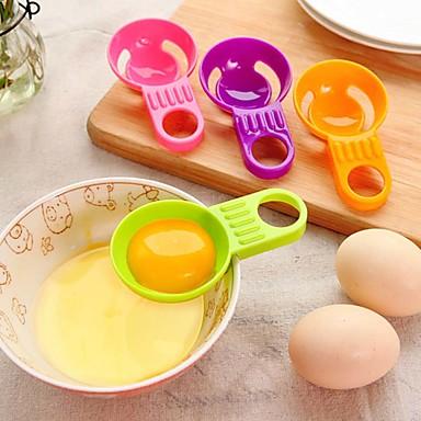 mini-gema de ovo separador branco prática ovo vitellus utensílios de cozinha divisor branco cozinhar cor aleatória