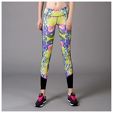 Yoga-Hose Strumpfhosen/Lange Radhose Videokompression Niedrig Dehnbar Sportbekleidung Damen Yoga Übung & Fitness