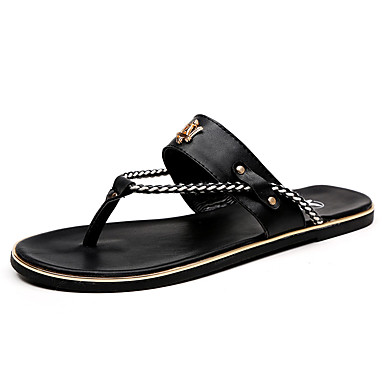 f8b2bcf3a3aa Men s Casual Leather Flip-Flops Maserati Sandals Beach Shoes Men Slippers  4988088 2019 –  26.99