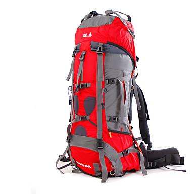 BSwolf 85 L mochila - Prova-de-Água, Á Prova-de-Chuva, Á Prova de Humidade Acampar e Caminhar, Alpinismo, Esportes Relaxantes Náilon Vermelho, Verde, Azul