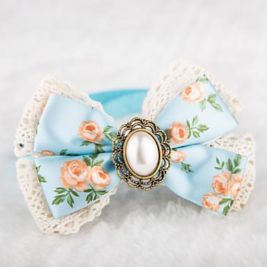 Katze Hund Halsbänder Regolabile / Einziehbar Nette und Kuscheltiere Textil Blau Rosa