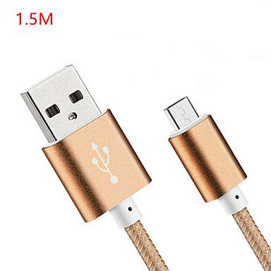 USB 2.0 USB-kabeladapter Normal Kabel Til Huawei LG Nokia Lenovo Xiaomi Motorola HTC Sony 150 cm Nylon
