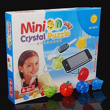 פאזלים פאזלים3D / פאזלים מקריסטל אבני בניין צעצועי DIY ABS כסוף / לבן / אדום / אפור צעצוע בניה ודגם