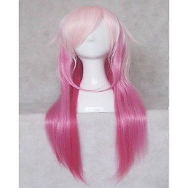 Synthetic Wig Straight Pink Women's Costume Wig 20 inch Long Synthetic Hair