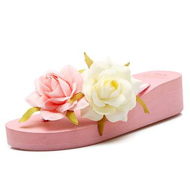 Ženske Cipele Tkanina Proljeće Ljeto Jesen Platformske cipele Cvijet od satena Za Formalne prilike Crn Pink
