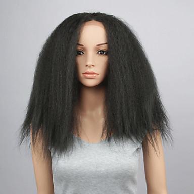 Szintetikus parókák Egyenes Göndör egyenes Női Csipke eleje Szintetikus haj