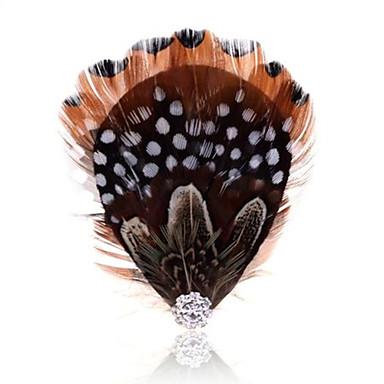 Naisten Sulka Feather Musta/valkoinen Korut Häät Party Kausaliteetti Pukukorut