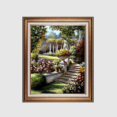 Handgemalte Landschaft / Blumenmuster/BotanischModern / Europäischer Stil Ein Panel Leinwand Hang-Ölgemälde For Haus Dekoration