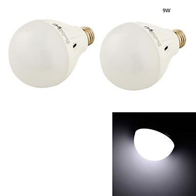 9W E26/E27 LED gömbbúrás izzók B 20 SMD 5730 650 lm Hideg fehér Dekoratív AC 220-240 V 2 db.