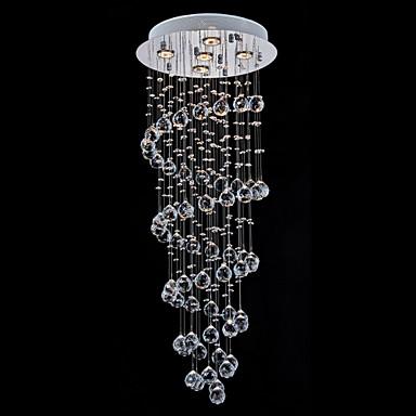 5-Light Anheng Lys Omgivelseslys - Krystall, 110-120V / 220-240V, Varm Hvit, Pære Inkludert / GU10 / 20-30㎡