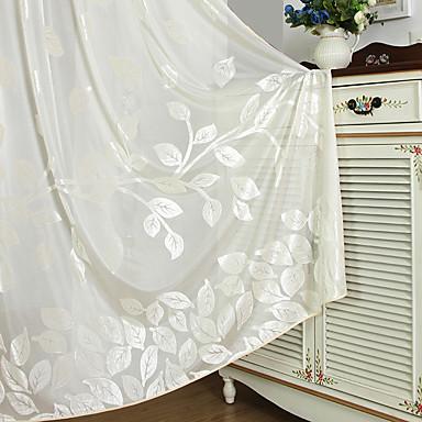 Schlaufen für Gardinenstange Ösen plissiert zwei Panele Window Treatment Landhaus Stil Europäisch , Plaid/Karomuster Wohnzimmer Polyester