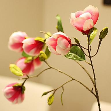 1 Ast Seide Magnolienbaum Tisch-Blumen Künstliche Blumen