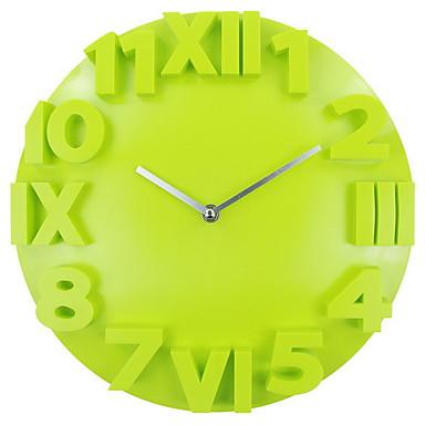 עגול / מצחיק מודרני / עכשווי שעון קיר,אחרים פלסטיק 12.6