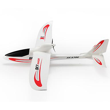RC Flugzeug WL Toys A700-A 3 Kanäle 2.4G KM / H Fertig zum Mitnehmen Bürster Elektromotor