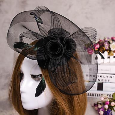 Blume Federschleier Fascinator Hut-Haarschmucksachen für Hochzeitsfest