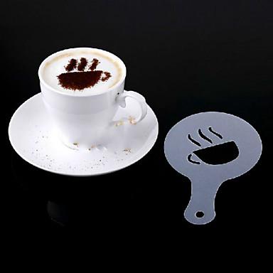 16pcs fantasia de fazer café de plástico modelo de impressão design minimalista pad varredura