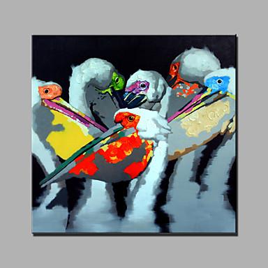 Maalattu Eläimet Neliö, Moderni Kangas Hang-Painted öljymaalaus Kodinsisustus 1 paneeli