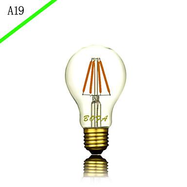 1kpl 3.0 E27 E26/E27 E26 B22 A60(A19) Lämmin valkoinen Kylmä valkoinen Neutraali valkoinen 2300 K LED-hehkulamput 220V 85-265V
