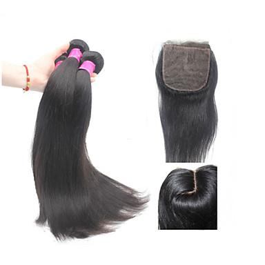 Remy de Brésilien de cheveux Tissages Remy & Fixation Droit (Straight) Tissage Cheveux Rémy Humain