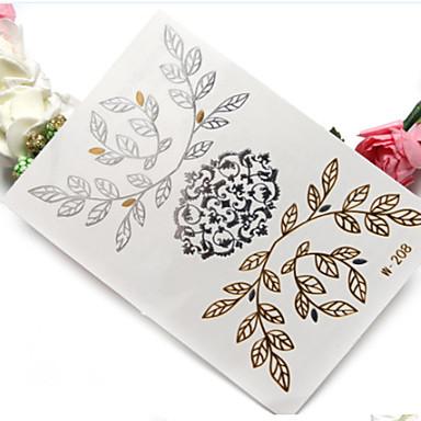 1db high-end meleg sajtolás vas ezüst vízálló fém tetoválás matrica
