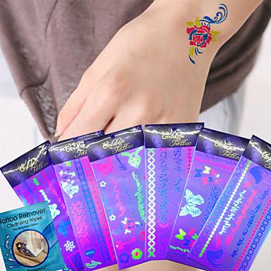 Tatoveringsklistremerker Andre Ikke Giftig Halloween Vanntett Dame Herre Voksen Tenåring Flash-tatovering midlertidige Tatoveringer