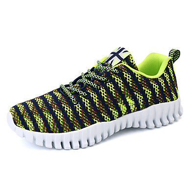 Sneakers-Tyl-Komfort-Herre-Sort Blå Sort og Rød Sort og Hvid-Udendørs Fritid Sport-Flad hæl