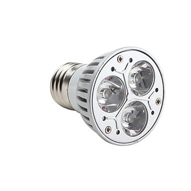 3000lm GU10 E26 / E27 Spoturi LED MR16 3 LED-uri de margele LED Putere Mare Intensitate Luminoasă Reglabilă Alb Cald 220-240V