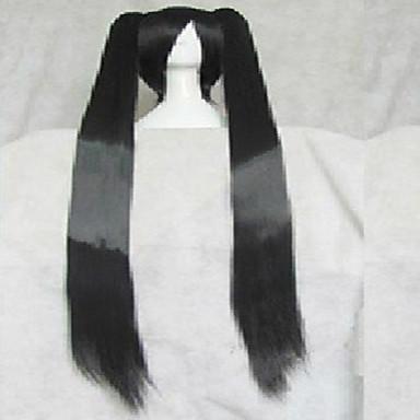 Stylowy czarny cosplay peruki syntetyczne włosy bardzo długie animowanych kreskówek dziewczyny peruki peruki peruki partii 011d