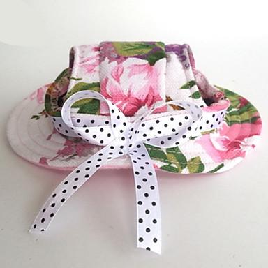 Katze Hund Bandanas & Mützen Hundekleidung Blume Rosa Nylon Kostüm Für Haustiere Herrn Damen Lässig/Alltäglich Urlaub Hochzeit