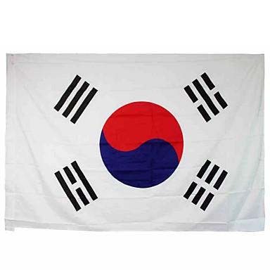 neue 3x5 Meter große Südkorea-Flagge Polyester der koreanischen nationalen Banner Wohnkultur (ohne Fahnenstange)