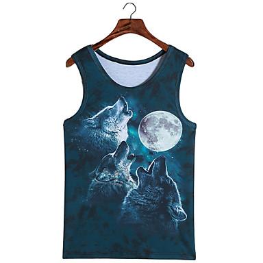 קיבל השראה מ קוספליי קוספליי אנימה תחפושות קוספליי Cosplay חולצת טריקו דפוס ללא שרוולים אפוד עבור יוניסקס