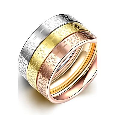 נשים לזוג טבעות רצועה אופנתי פלדת על חלד תכשיטים עבור חתונה Party יומי קזו'אל