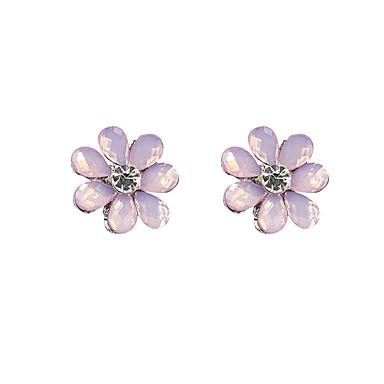 Ohrstecker Imitation Diamant Blumenform Rosa Leicht Grün Schmuck