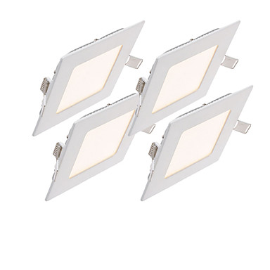 ZDM® 4stk 6 W 500-600 lm LED-spotlys 30pcs LED Perler SMD 2835 Dekorativ Varm hvid / Kold hvid / Naturlig hvid 85-265 V / 4 stk. / RoHs / 100