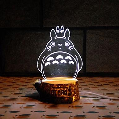 visuelle 3D-Schergen LED Dekoration usb Tischlampe buntes Geschenk Nachtlicht (verschiedene Farben)