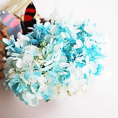 1 Gren Ekte Touch Andre Hortensiaer Bordblomst Kunstige blomster