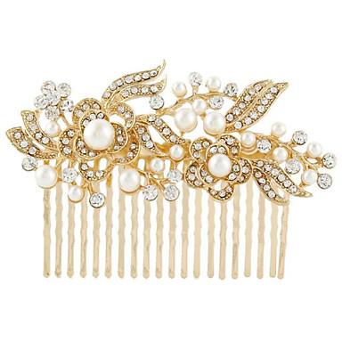 Silber Kristall Perle Haarkämme für die Hochzeit Partei Dame Schmuck
