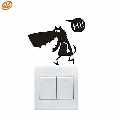 Romantik / Mode / Abstrakt / Fantasie Wand-Sticker Flugzeug-Wand Sticker,PVC 12*10cm