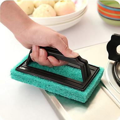 konyhai kezeli szivacs tisztító ecsettel a kefe fürdő véletlenszerű színt