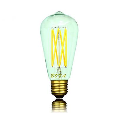 B22 E26 E26/E27 LED gömbbúrás izzók ST64 6 led COB Tompítható Dekoratív Meleg fehér 2200/2700/3000lm 2200K 2700K  3000KK AC 220-240 AC