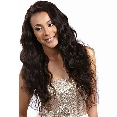 Emberi haj Csipke Csipke eleje Paróka Hullámos haj 130% 150% Sűrűség 100% kézi csomózású Afro-amerikai paróka Természetes hajszálvonal