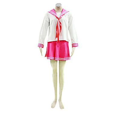 Inspirat de LuckyStar Kagami Hiiragi Anime Costume Cosplay Costume Cosplay Uniforme Școlare Peteci Manșon Lung Cravată Vârf Fustă Pentru
