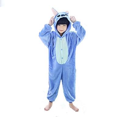 Pijama Kigurumi Monster Blue Monster Pijama Întreagă Costume Flanel Lână Albastru Roz Cosplay Pentru Copil Sleepwear Pentru Animale Desen