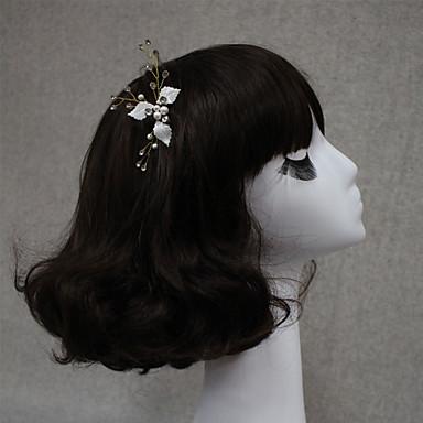 Damen Legierung Stoff Kopfschmuck-Hochzeit Besondere Anlässe Haarklammer 1 Stück