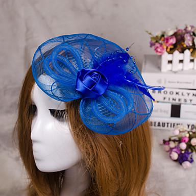 Blume Federschleier Fascinator Haar Schmuck für Hochzeitsfest
