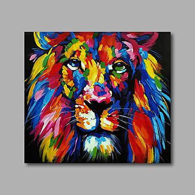 Maalattu Abstrakti / EläinModerni 1 paneeli Kanvas Hang-Painted öljymaalaus For Kodinsisustus