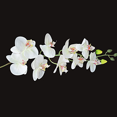 1 Gren Silke Orkideer Bordblomst Kunstige blomster