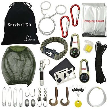 Compassos Saco de Higiene Pessoal Fivela Kit de Sobrevivência Iniciador de Fogos Bracelete de Sobrevivência Equitação Campismo Exterior